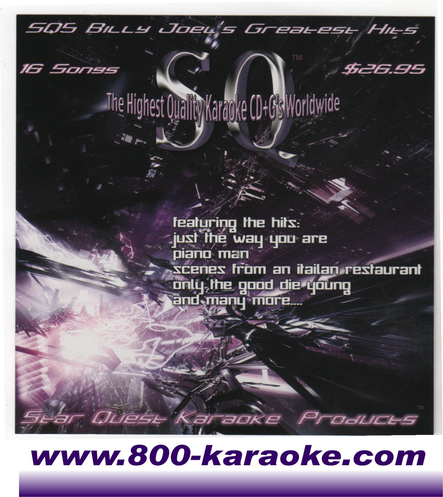 star quest billy joel karaoke #005